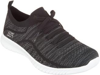 Skechers Faux Lace Stretch Knit Slip-On Sneakers