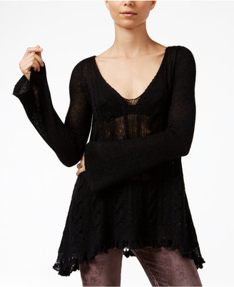 Free People Waterfall V-Neck Pullover Sweater $148 thestylecure.com