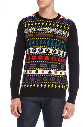 Love Moschino Black Intarsia Sweater