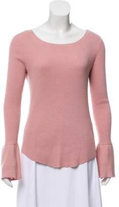 Hatch Long Sleeve Knit Top