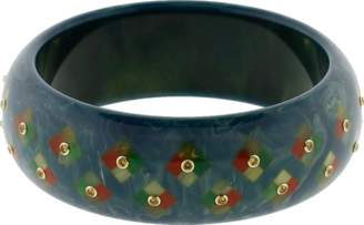 Mark Davis Blue Bakelite Bangle