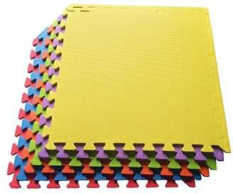 Ottomanson Multipurpose Interlocking Puzzle Eva Foam Tiles-Anti-Fatigue Mat 24 Sq. Ft