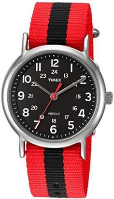 Timex Unisex TWC030800 Weekender Nylon Slip-Thru Strap Watch