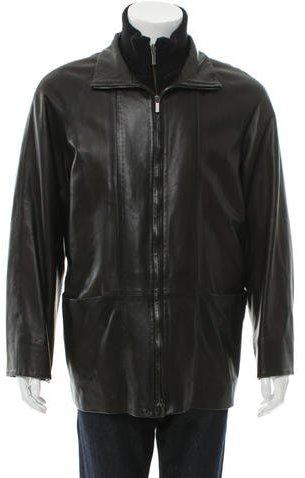 BallyBally Leather Zip-Up Jacket