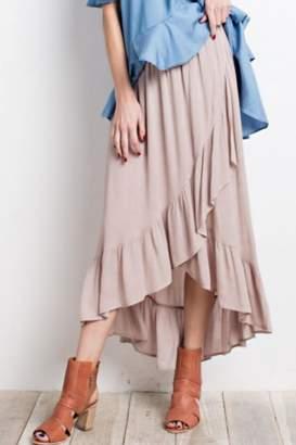 Easel Tulip Wrap Skirt