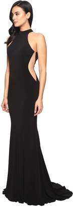 Faviana Jersey Halter w/ Illusion Cut Out 7943 Women's Dress