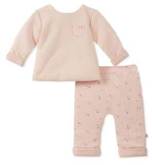 Absorba Baby Girl's 2-Piece Heart Printed Top & Pants Set
