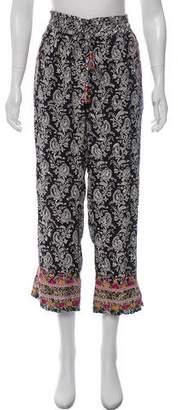 Calypso Silk Embroidered Pants