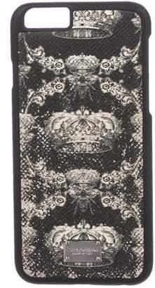 Dolce & Gabbana Crown Printed iPhone Case
