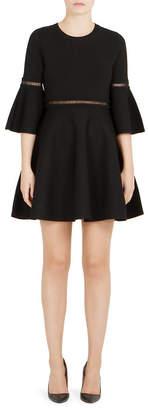 Carven Bell-Sleeve A-Line Dress
