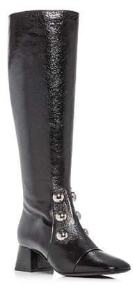Burberry Women's Aleigha Leather Block-Heel Boots