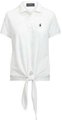 Polo Ralph Lauren Tie-Front Mesh Polo Shirt $98.50 thestylecure.com