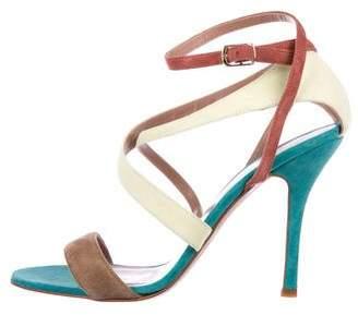 Jean-Michel Cazabat Suede Crossover Sandals