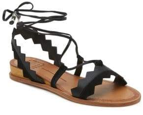Dolce Vita Pedra Calf Hair Wedge Sandals