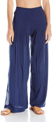 Vix Women's Solid Meidy Pant Cover up