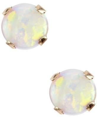 Candela 14K Yellow Gold Opal Stud Earrings