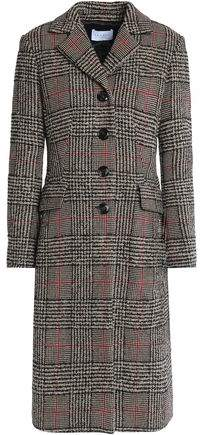 Prince Of Wales Checked Wool-Blend Coat