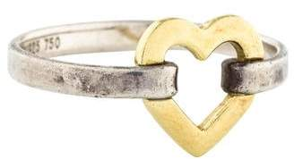 Tiffany & Co. Two-Tone Heart Ring