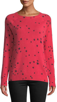 Autumn Cashmere Star-Print Cashmere Crewneck Sweater