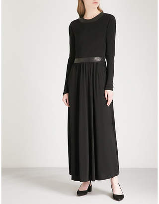 Rosetta Getty Backless crepe maxi dress