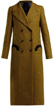 Blazé Milano Blaze Milano - Fair & Square Checked Wool Coat - Womens - Yellow Multi