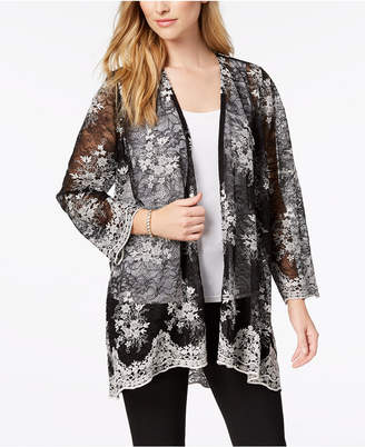 Alfani Lace Open-Front Cardigan, Created for Macy's