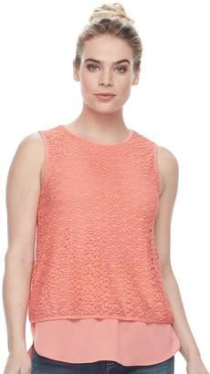 Apt. 9 Women's Mixed-Media Crochet Tank