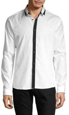 HUGO BOSS Long-Sleeve Button-Down Shirt