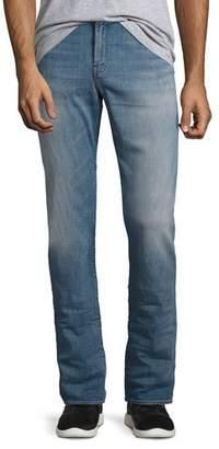 J Brand Kane Straight-Fit Jeans, Hubble (Blue) $248 thestylecure.com
