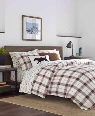 Eddie Bauer Riverdale King Plaid Flannel Red Comforter Set Bedding