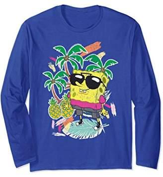 Nickelodeon tropical SpongeBob Long Sleeve T-shirt