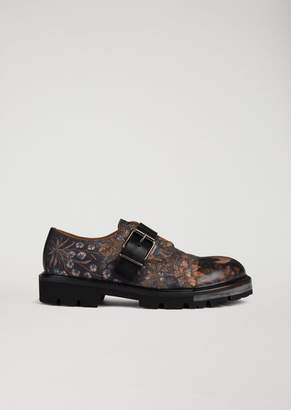 Emporio Armani Monkstrap Nature Print And Leather Buckle