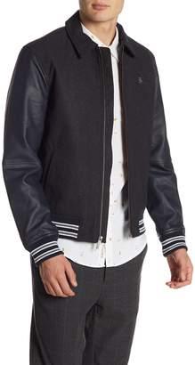 Original Penguin Vintage Gym Wool Blend Varsity Jacket