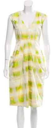 Lela Rose Printed Midi Dress