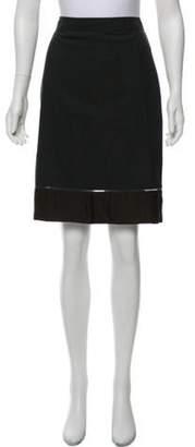 Stella McCartney Wool Knee- Length Skirt Grey Wool Knee- Length Skirt