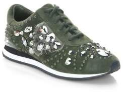 Tory Burch Studded Suede Runner Sneakers
