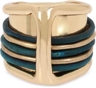Robert Lee Morris Soho Gold-Tone & Patina Overlay Statement Ring