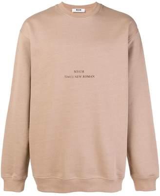 MSGM font logo sweater