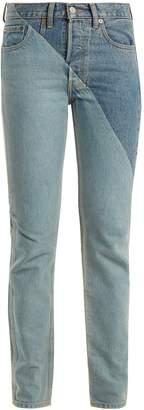 Vetements X Levi's cross-cut slim-leg jeans