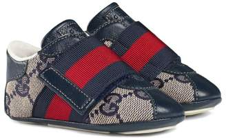 Gucci Kids Baby GG sneaker with Web detail