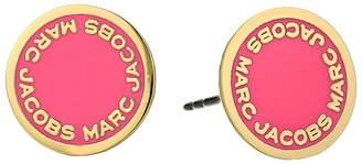 Marc Jacobs Logo Disc Enamel Studs Earrings