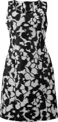 Oscar de la Renta Floral Slim Dress