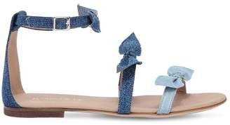 Denim Sandals W/ Bows