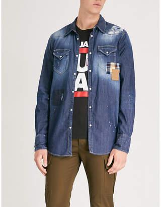 DSQUARED2 Splatter-print regular-fit denim shirt