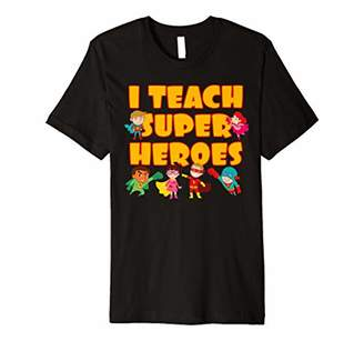 I Teach Super Heroes - Comic Book Hero Teacher Premium T-Shirt