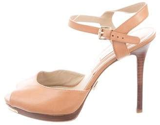 Michael Kors Leather Ankle Strap Sandals