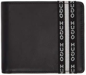 HUGO Black Wallet and Keychain Set