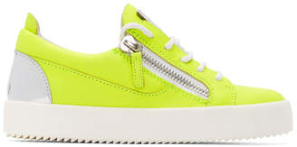Giuseppe Zanotti Yellow and Silver Neon May London Sneakers