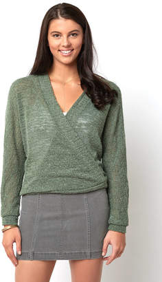 Sadie & Sage Long Sleeve Wrap front Pullover
