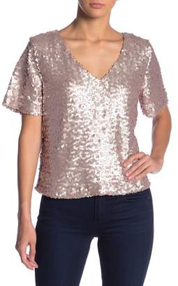 Socialite Sequin V-Neck Top